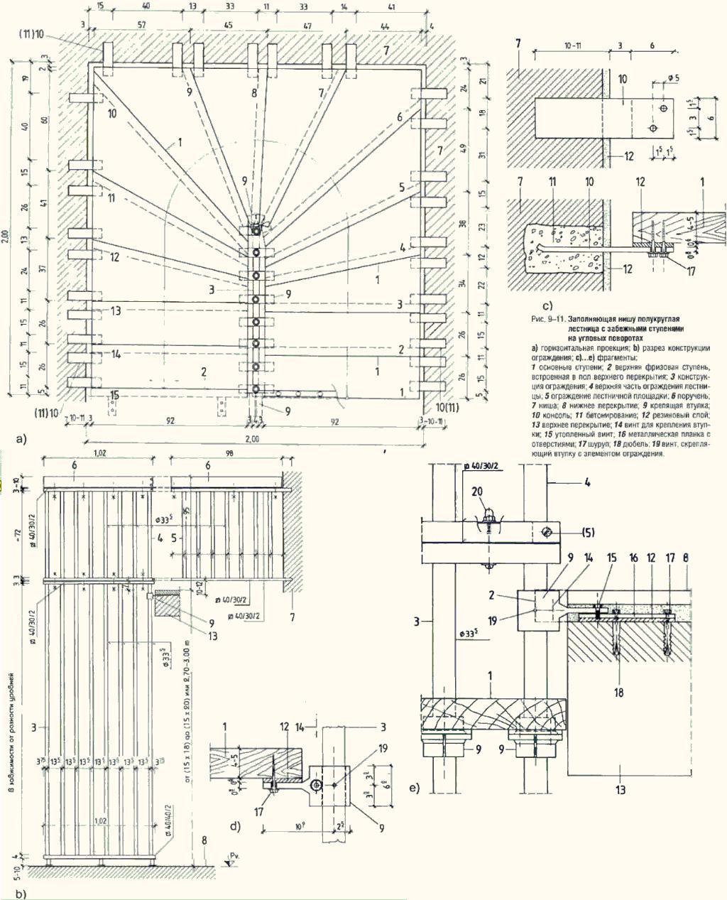 Деревянная лестница на второй этаж своими руками с поворотом на 180 схема 12